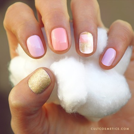 Candyfloss nails