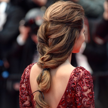 Cannes Film Festival fishtail plait