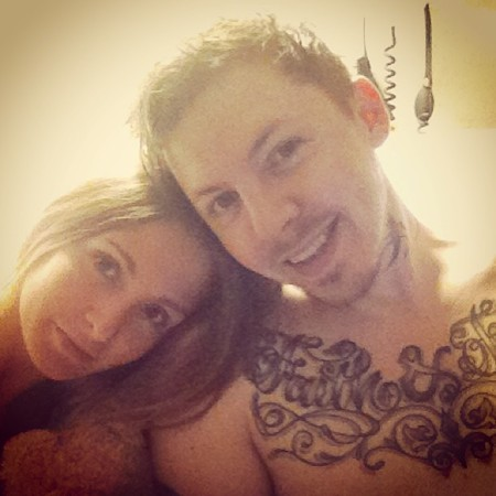 Millie Mackintosh and Professor Green in hospital