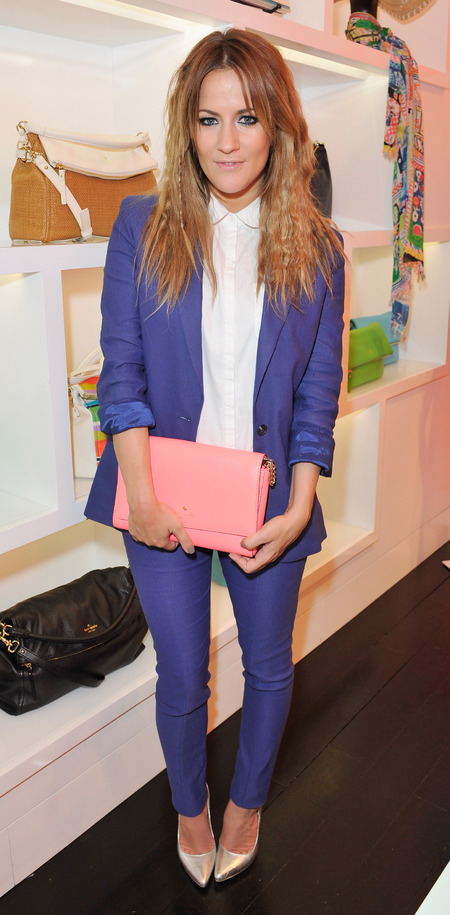 Caroline Flack attends Kate Spade New York tea party