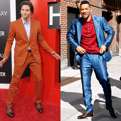 Bradley Cooper and Will Smith in bad colourful suits