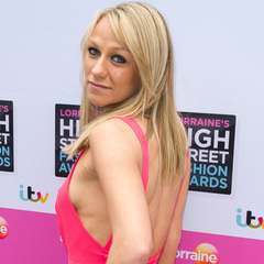 Chloe Madeley flashes the flesh in fuchsia playsuit at High Street Fashion Awards