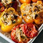 Baked stuffed vegetables vegetarian recipe