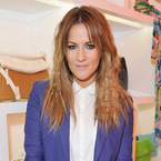Caroline Flack suits up in chic Acne tailoring
