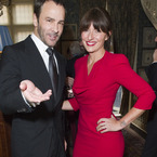 Davina McCall stuns Tom Ford in wowser red dress
