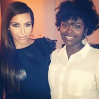 Kim Kardashian does super straight hair in NYC