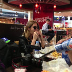 Millie Mackintosh eats giant burger