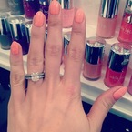 Millie Mackintosh shows off peachy Nails Inc mani