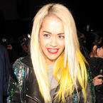 Rita Ora swaps bleached blue for bright yellow hair