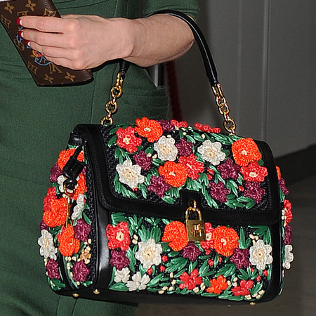 Dita Von Teese with Dolce & Gabbana Miss Dolce Flowers Bag