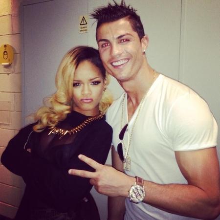 Rihanna and Cristiano Ronaldo