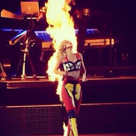 Rihanna on fire on tour