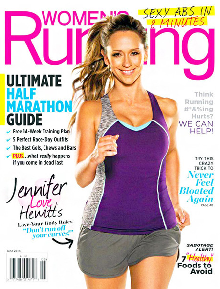 Jennifer Love Hewitt on the cover of Women's Running magazine