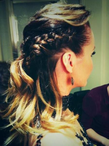 Plaited updo for Britain's Got Talent semi-final 2013