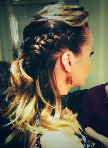 Amanda Holden Britain's Got Talent Semi-Final braided hairstyle by Ben Cooke