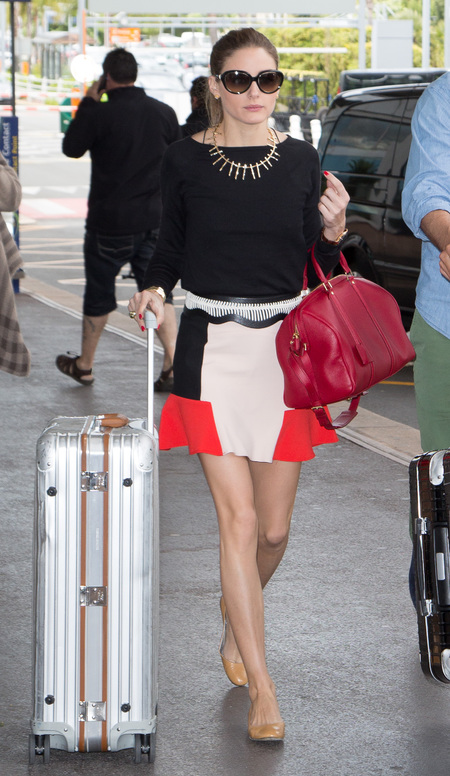 Olivia Palermo wears high-street Zara skirt
