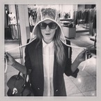 Caroline Flack starts shopping for Glastonbury