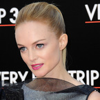 Heather Graham rocks pink pout at Hangover 3 in Paris