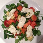 Tasty Tweet: Millie Mackintosh's Papaya & Halloumi Salad