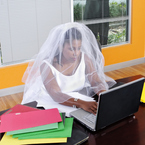 Wear your wedding dress to work day