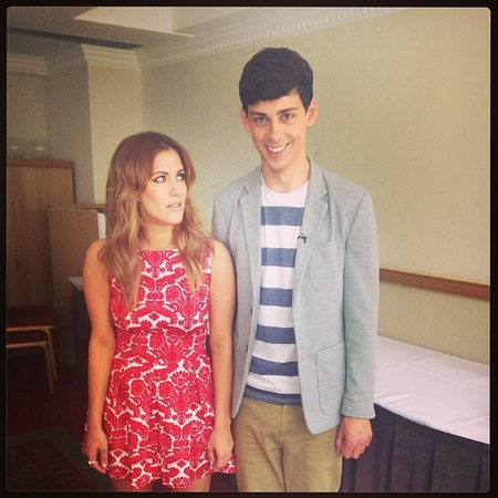 Caroline Flack and Matt Richardson start Xtra Factor filming
