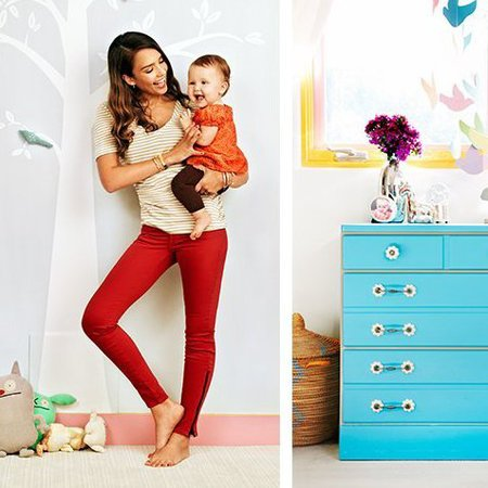 Jessica Alba baby room