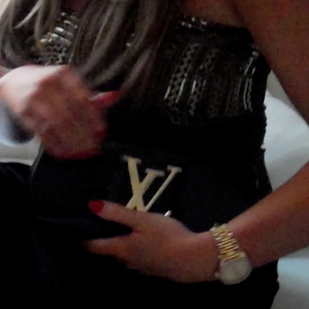 Lauren Goodger Louis Vuitton clutch bag