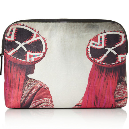 Mario Testino printed clutch bag for Mate