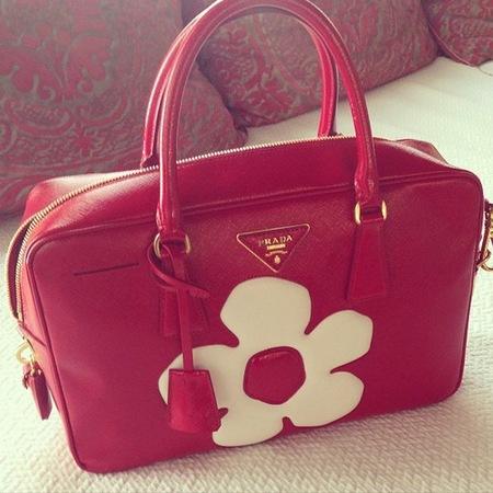 Miranda Kerr Prada handbag