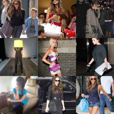 CELEBRITY BAGS: Victoria Beckham's designer handbag collection