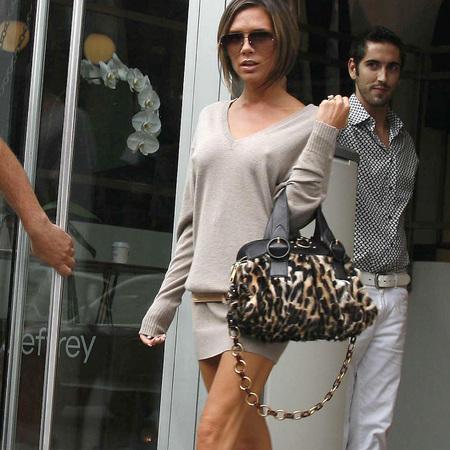 Victoria Beckham's animal print bag