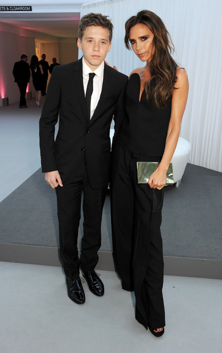 Victoria Beckham and Brooklyn Beckham at Glamour Women of the Year Awards 2013
