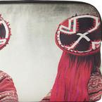 Mario Testino designs printed clutch bags