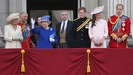 Kate Middleton, Prince Harry, Camilla, Trooping the Colour 2013 for Queen's Official Birthday