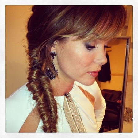 Amanda Holden BGT fishtail plait by Ben Cooke
