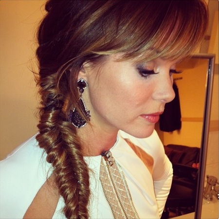 Fishtail plait for Britain's Got Talent final 2013