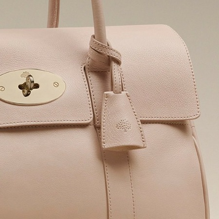 Mulberry Bayswater bag in Oatmeal Micrograin Calf leather