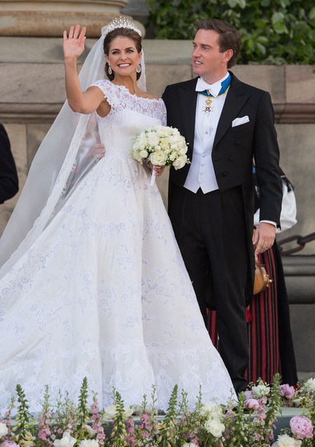 Princess Madeleine of Sweden's Valentino wedding dress