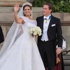 Princess Madeleine of Sweden marries in Valentino wedding dress