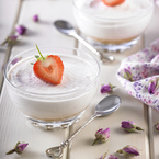 Strawberry and Rose Mousse Cheesecake Pots