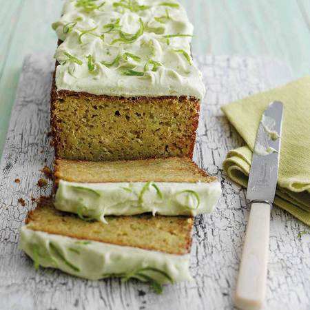 Avocado and lime tea loaf