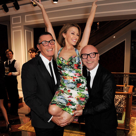 Dolce & Gabbana at Mens Collections with Kylie Minogue