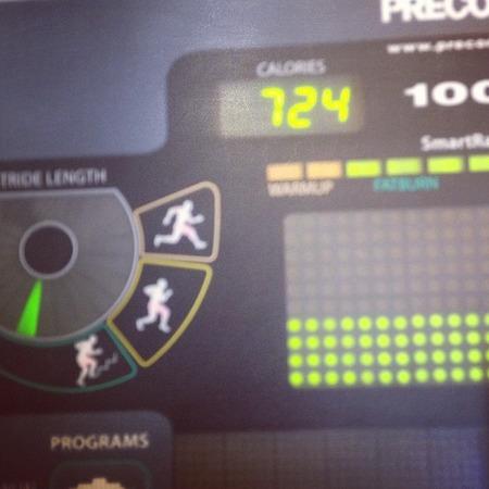 Khloe Kardashian on the treadmill