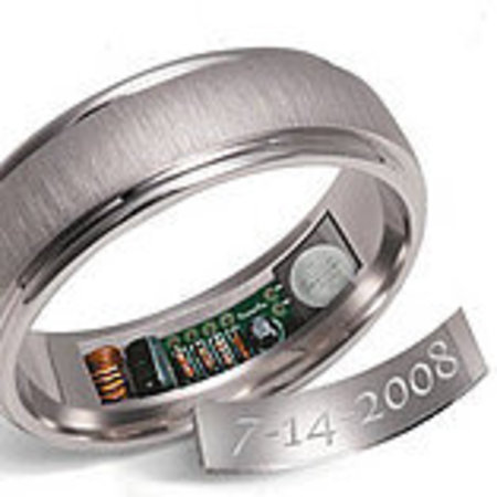 Wedding ring that heats up