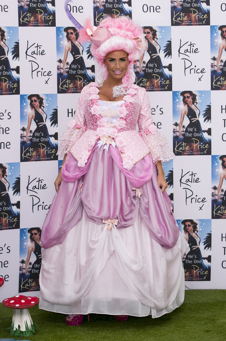 Katie Price wears pink princess dress at He's The One book launch