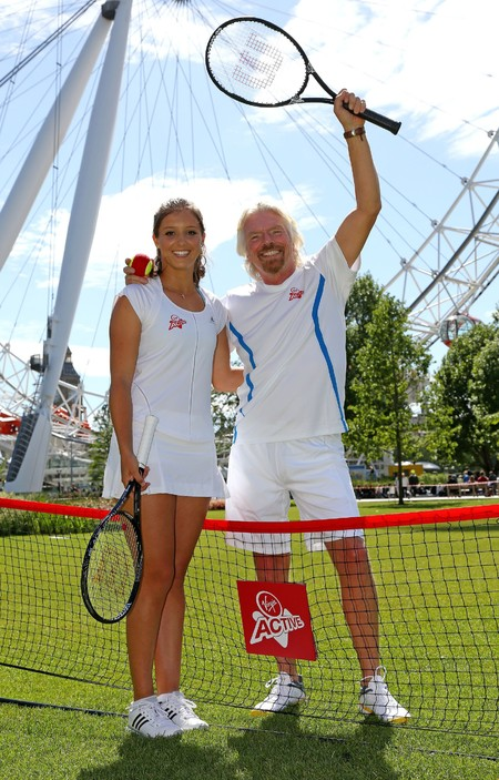 Laura Robson with mega boss Richard Branson