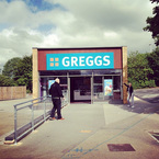 Jessie J visits road-side Greggs