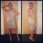 Jessie J sparkles in flirty silver frock for The Voice final