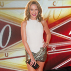Kylie Minogue back in metallic gold hotpants?