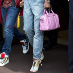 Rihanna rocks pink Givenchy bag with Riri heels